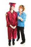 Mom Congratulates Daughter on Graduation Royalty Free Stock Images