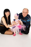 Mom, dad and baby  Royalty Free Stock Photography