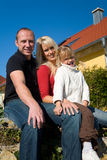 Mom, Dad, child Stock Photos