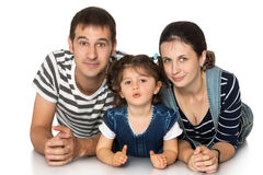 Mom dad and little daughter Royalty Free Stock Images