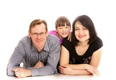 Mom dad and little daughter Stock Photography