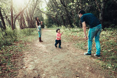 Mom Dad and son Stock Images
