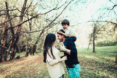 Mom Dad and son Royalty Free Stock Images