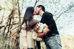 Mom Dad and son Royalty Free Stock Photography
