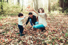 Mom Dad and son Royalty Free Stock Image