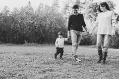 Mom Dad and son Royalty Free Stock Photo
