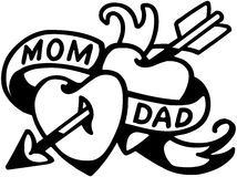 Mom And Dad Tattoo Stock Photography