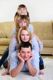 Mom, Dad and their two daughters Royalty Free Stock Photography
