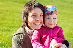 Mom with  daughter Royalty Free Stock Photos