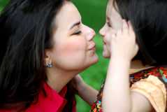 Mom & daughter Royalty Free Stock Images