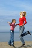 Mom and daughter. Enjoying freedom Royalty Free Stock Photo