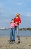 Mom and daughter. Enjoying freedom Stock Photos