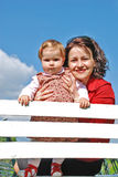 Mom and daughter. Happy family, mom and daughter  in the park Stock Photography