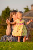 Mom and Daughter Stock Photography