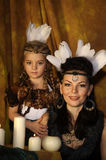 Mom and daughter Indians Royalty Free Stock Photography