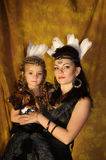 Mom and daughter Indians Stock Images