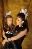 Mom and daughter Indians Stock Photo