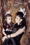 Mom and daughter Indians Royalty Free Stock Photos