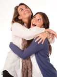 Mom and daughter encounter Royalty Free Stock Photo