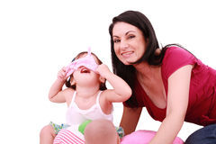 Mom and daughter having fun Stock Photography