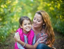 Mom and Daughter. Having Fun Royalty Free Stock Images