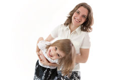Mom and daughter having fun Royalty Free Stock Image