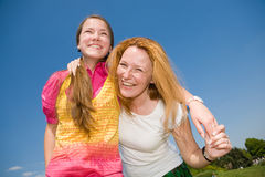 Mom and Daughter Having Fun Stock Photo