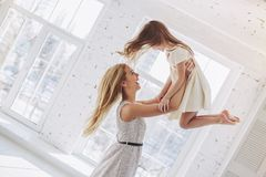 Mom and daughter having fun at home Stock Photography