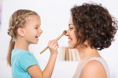 Mom and daughter are having fun Stock Photo