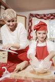 Mom and daughter in the kitchen . Royalty Free Stock Photo