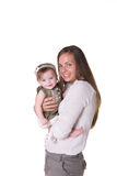 Mom and daughter. A mother and her 6 month old daughter stock image