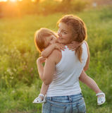 Mom with daughter royalty free stock images
