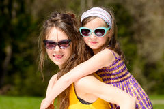 Mom and daughter play Royalty Free Stock Photo