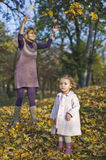 Mom and daughter playing Royalty Free Stock Photography