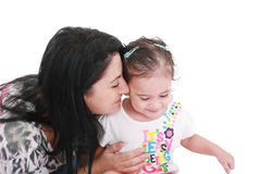 Mom and daughter playing Royalty Free Stock Photos