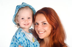 Mom and daughter portrait Royalty Free Stock Photo