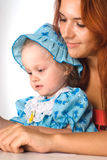 Mom and daughter portrait Stock Photography