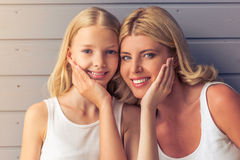 Mom and daughter Stock Image