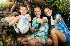 Mom daughter and son Royalty Free Stock Images