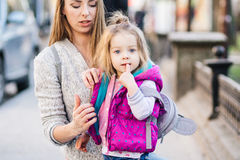 Mom and daughter spend time together Royalty Free Stock Photo