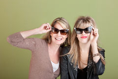Mom and Daughter in Sunglasses Royalty Free Stock Photography