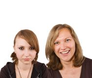 Mom and Daughter (teenager) Royalty Free Stock Image
