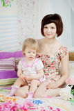 Mom and daughter together Stock Photo