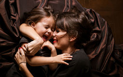 Mom and daughter. Together happiness Stock Photography