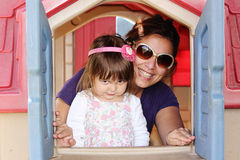 Mom and daughter royalty free stock image