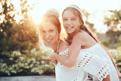 Mom with daughter Royalty Free Stock Image