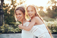Mom with daughter Stock Photography
