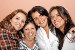 Mom and daughters stock image