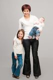 Mom with daughters Royalty Free Stock Photography