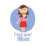 Mom design Royalty Free Stock Image